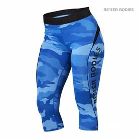 Better Bodies - Fitness Curve Capri, Blue Camo POISTO - Better Bodies housut - 02630 - 1