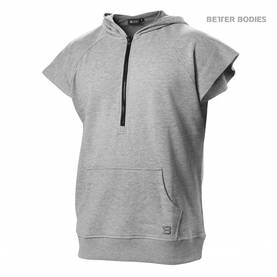 Better Bodies - Harlem S/L Hood, Grey Melange - Better Bodies hupparit ja takit - 02820 - 1