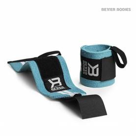 Better Bodies - Womens Wrist Wraps, Aqua - Rannetuet - 06350 - 1