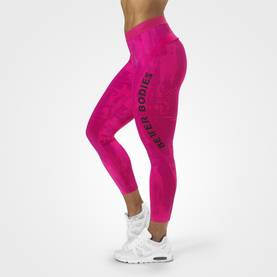 Better Bodies - Gracie Curve Tights, Pink Print - Better Bodies housut - 06030 - 1