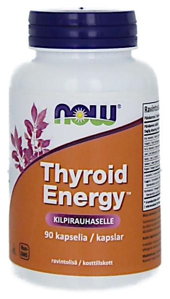 Thyroid Energy. 90kaps. Now Foods - Muut mineraalit ja vitamiinit - 06180 - 1