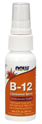 B-12 Liposomal Spray. 59ml. Now Foods - Vitamiinit - 06181 - 1