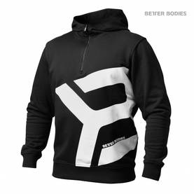 Better Bodies - Brooklyn Zip Hood, Black - Better Bodies hupparit ja takit - 02441 - 1
