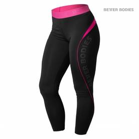 Better Bodies - Fitness Curve Tights, Black / Pink - Better Bodies housut - 02511 - 1