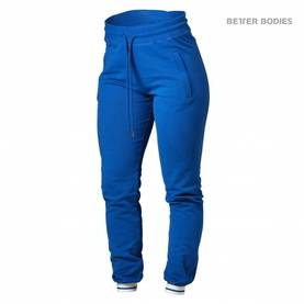 Better Bodies - Madison Sweat Pants, Strong Blue - Better Bodies housut - 02591 - 1