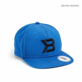 Better Bodies - Twill Flat Bill Cap, Strong Blue - Better Bodies päähineet - 02601