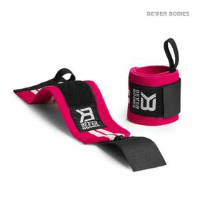 Better Bodies - Womens Wrist Wraps, Hot Pink / White - Rannetuet - 02541 - 1
