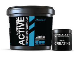 Micro Whey Active 4 kg + Muscle: ZMA  - SELF Omninutrition - Heraproteiinit - 03001 - 1