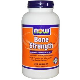 NOW Foods - Bone Strength, 120tabs - Vitamiinit - 01961 - 1