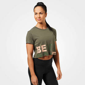 Better Bodies - Astoria Cropped Tee, Washed Green - Better Bodies t-paidat - 06301 - 1