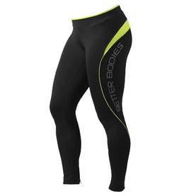 Better Bodies - Fitness long tights, Black/Lime - Better Bodies housut - 00092 - 1