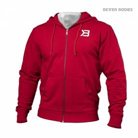 Better Bodies -  Jersey Hoodie, Bright Red - Better Bodies hupparit ja takit - 02792 - 1