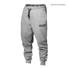 Better Bodies - Tapered Sweatpant, Grey Melange - Better Bodies housut - 01492 - 1
