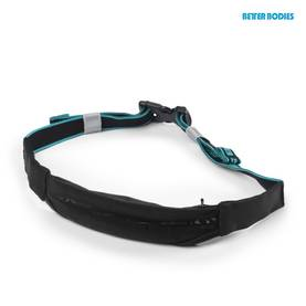 Better Bodies - Zip Belt, Black/Aqua - Better Bodies varusteet - 01052 - 1