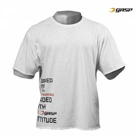 GASP - No Compromise Tee, White - GASP t-paidat - 02012 - 1