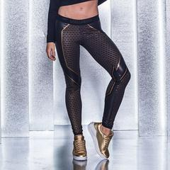 LABELLAMAFIA Leggings Golden Light - Labellamafia housut - 06002 - 1