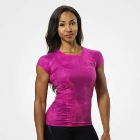 Better Bodies - Performance Cut Tee, Pink Print - Better Bodies t-paidat - 06032 - 1