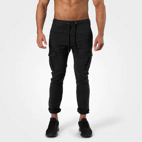 Better Bodies - Harlem Cargo Pants, Washed Black - Better Bodies housut - 06352 - 1