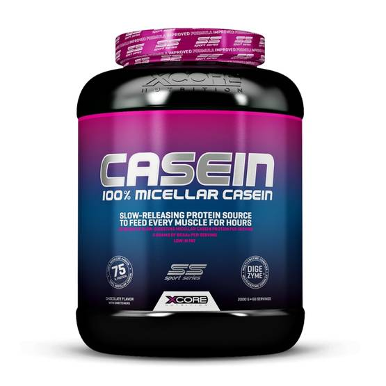 Xcore Nutrition - Xtreme Casein SS, 2000g + Xcore Omega3 1000, 120 softgels - Kaseiiniproteiinit - 02902 - 1