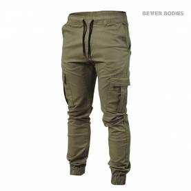 Better Bodies - BB Alpha Street Pant, Washed Green - Better Bodies housut - 02543 - 1