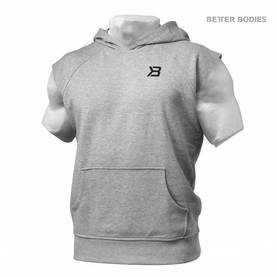 Better Bodies - Hudson S/L Sweater, Grey Melange - Better Bodies hupparit ja takit - 02393 - 1