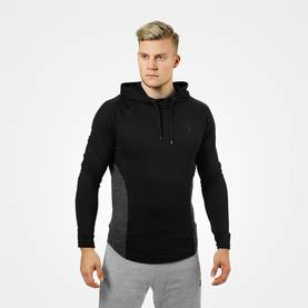 Better Bodies - Performance Mid Hood, Graphite Melange - Better Bodies hupparit ja takit - 00673 - 1