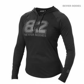 Better Bodies - Varsity Hoodie, Black - Better Bodies hupparit ja takit - 02813 - 1