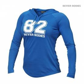Better Bodies - Varsity Hoodie, Bright Blue - Better Bodies hupparit ja takit - 02093 - 1