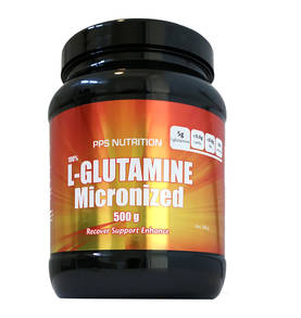 Micronized  L-Glutamine PPS Nutrition Aminohappojauhe - L-Glutamiini - 06953 - 1