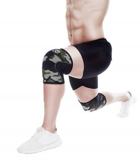 Rehband - Rx Knee Support 5mm, Camo/Black - Polvituet - 01943 - 1