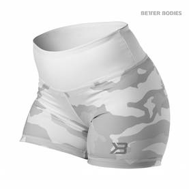 Better Bodies - Chelsea Hotpant, White Camo - Better Bodies shortsit - 02734 - 1