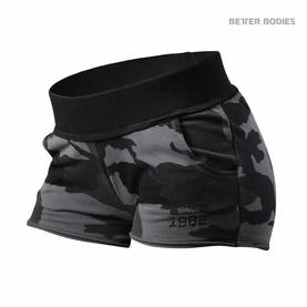 Better Bodies - Rough Sweat Shorts, Dark Camo - Better Bodies shortsit - 02334 - 1