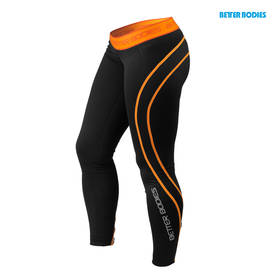 Better Bodies. Athlete Tights. Black/Orange POISTO - Better Bodies housut - 01104 - 4
