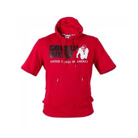 Gorilla Wear - Boston Short Sleeve Hood, Red - Gorilla Wear hupparit ja takit - 01924 - 1
