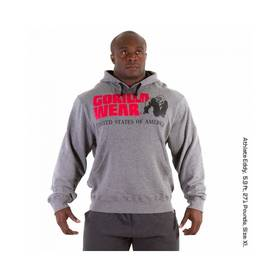 Gorilla Wear - Classic Hooded Top, Grey Melange - Gorilla Wear hupparit ja takit - 01894 - 1