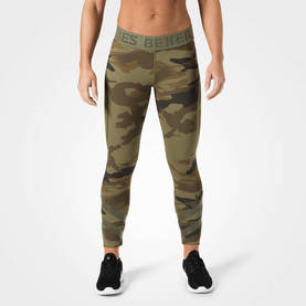 Better Bodies - Chelsea Tights, Dark Green Camo - Better Bodies housut - 06304 - 1