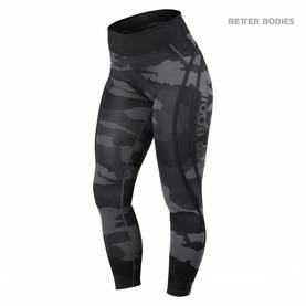 Better Bodies - Camo High Tights, Dark Camo - Better Bodies housut - 02325 - 1