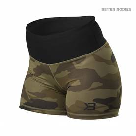 Better Bodies - Chelsea Hotpant, Dark Green Camo - Better Bodies shortsit - 02735 - 1