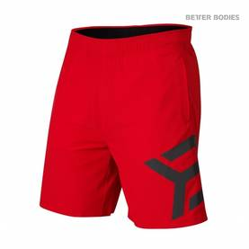 Better Bodies - Hamilton Shorts, Bright Red - Better Bodies shortsit - 02515 - 1