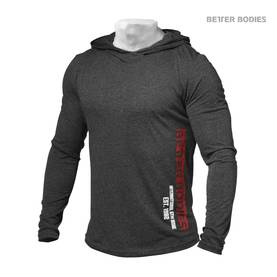 Better Bodies - Mens Soft Hoodie, Anthracite - Better Bodies hupparit ja takit - 01705 - 1