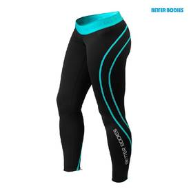 Better Bodies.Athlete Tights. Black/Aqua POISTO - Better Bodies housut - 01105 - 4