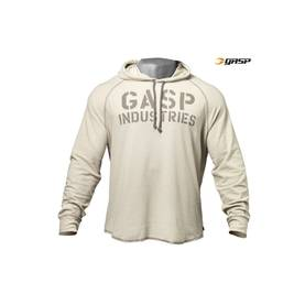 GASP - Long Sleeve Thermal Hoodie, Cement - GASP pitkähihaiset - 01655 - 1
