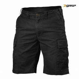 GASP - Rough Cargo Shorts, Washed Black - GASP shortsit - 02605 - 1