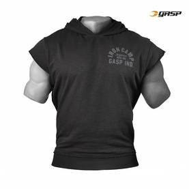 GASP -Throwback S/L Hood, Washed Black - GASP hupparit ja takit - 02645 - 1