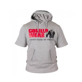 Gorilla Wear - Boston Short Sleeve Hood, Grey - Gorilla Wear hupparit ja takit - 01925 - 1