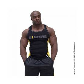 Gorilla Wear - G!Wear RIB Tanktop, Black/Yellow - Gorilla Wear tank topit - 01875 - 1