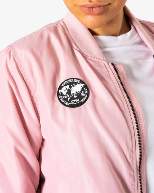 Lifestyle Bomber Jacket ICANIWILL bomber takki Dusty Pink