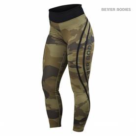 Better Bodies - Camo High Tights, Green Camo - Better Bodies housut - 02326 - 1
