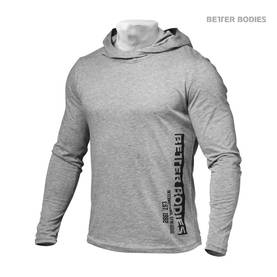 Better Bodies - Mens Soft Hoodie, Grey Melange - Better Bodies hupparit ja takit - 01706 - 1