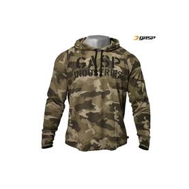 GASP - Long Sleeve Thermal Hoodie, Green Camo Print - GASP pitkähihaiset - 01656 - 1
